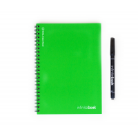 INFINITEBOOK A5 GREEN WITH BLACK MARKER